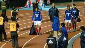 国立競技場の横浜F・マリノス中村俊輔