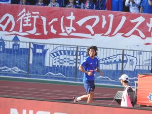 久しぶりにピッチに登場した横浜F・マリノス中澤佑二