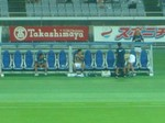 横浜F・マリノスのベンチ、水沼宏太と渡邉千真