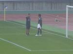 横浜F・マリノスの飯倉大樹と松永コーチ