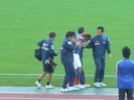 負傷退場した横浜F・マリノスの坂田大輔
