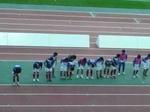 試合終了後の横浜F・マリノスの挨拶