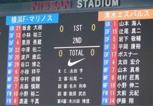横浜F・マリノス vs 清水エスパルス スタメン