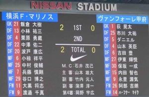 横浜F・マリノス vs ヴァンフォーレ甲府 2−0