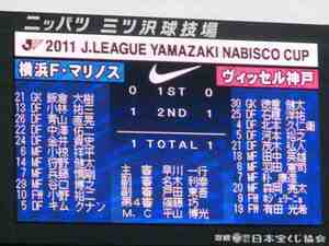 横浜F・マリノスvsヴィッセル神戸 1−1