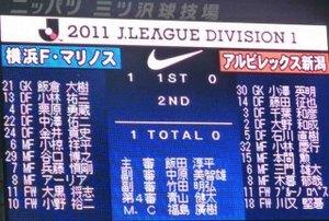 横浜F・マリノス vs アルビレックス新潟 1−0