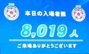 入場者数8019人