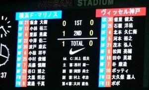 横浜F・マリノス vs ヴィッセル神戸 1−0