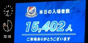 横浜F・マリノス vs ヴィッセル神戸 入場者数 15402人