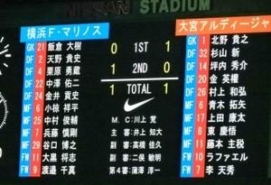 横浜F・マリノス vs 大宮アルディージャ