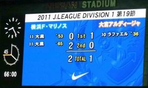横浜F・マリノス vs 大宮アルディージャ 2−1