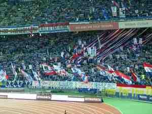 日産スタジアムの横浜F・マリノスサポーター