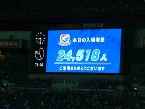 横浜F・マリノスの入場者数24518人