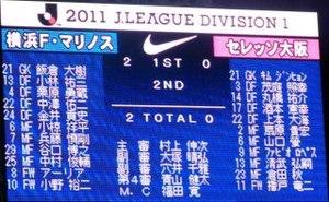 横浜F・マリノス vs セレッソ大阪 2−0