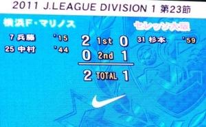 横浜F・マリノス vs セレッソ大阪 2−1