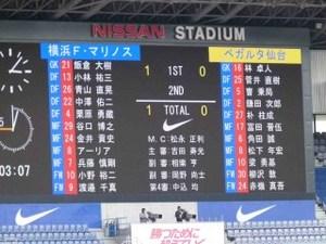 横浜F・マリノスvsベガルタ仙台 1−0