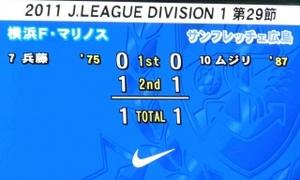 横浜F・マリノス vs サンフレッチェ広島 1−1