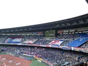 青空の日産スタジアム