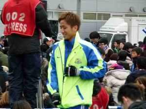 ファン感での横浜F・マリノスの狩野健太