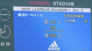 横浜F・マリノス vs ベガルタ仙台 0-1