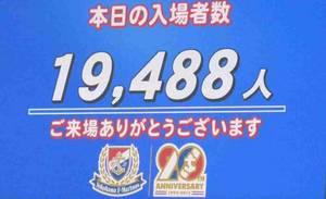 横浜F・マリノス vs ベガルタ仙台入場者数19488人