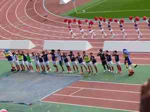 横浜F・マリノスイレブンの勝利の笑顔