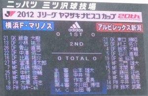 2012 ヤマザキナビスコカップ 横浜F・マリノス vs アルビレックス新潟