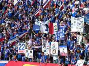 横浜F・マリノスのゴール裏サポーター