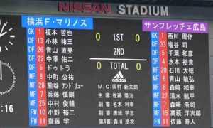 横浜F・マリノス vs」サンフレッチェ広島