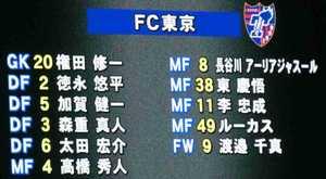 FC東京先発