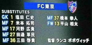 FC東京控え