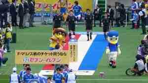 ベガッ太とマリノスケ @ 横浜F・マリノス vs ベガルタ仙台