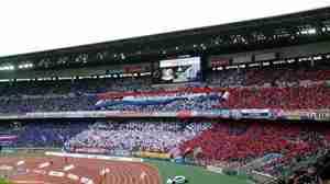 横浜F・マリノスゴール裏のトリコロール