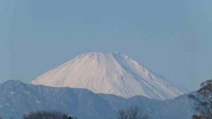 天皇杯準決勝の日の富士山