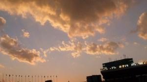 2014年元日の国立競技場の空