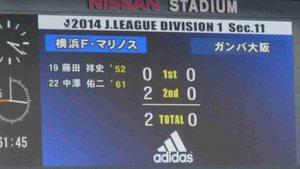 横浜F・マリノス vs ガンバ大阪2−0