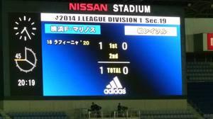 横浜F・マリノス vs 柏レイソル 先制点ラフィーニャ
