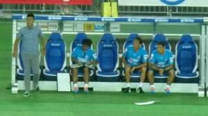 横浜F・マリノス vs 柏レイソル 2失点目のベンチ