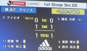 横浜F・マリノス vs ベガルタ仙台 1-1