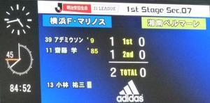 横浜F・マリノス齋藤学の得点で喜田拓也飛びつく
