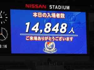 横浜F・マリノス vs 清水エスパルス 入場者数14848人