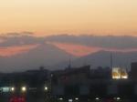 横浜の夜景での富士山